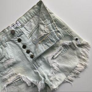 One Teaspoon Outlaws Cutoff Shorts Size 25